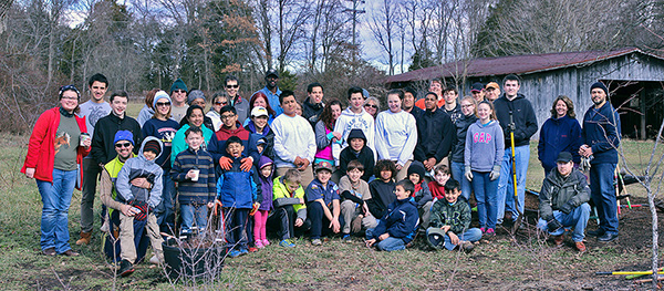 MLK Day of Service at the Wildlife Garden, 2015