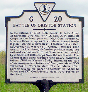 Bristoe Station Battlefield
