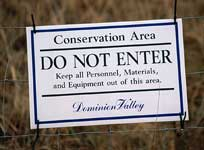 Sign Protects Conservation Area